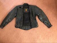 Female Motorcycle Leather biker jacket