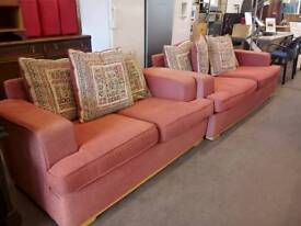 Fabric 2 & 3 seater sofa set. Del available