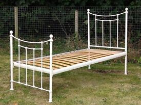 Lovely cream antique style metal bed