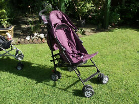 MOTHERCARE MAHU PURPLE LIGHTWEIGHT PRAM/STROLLER