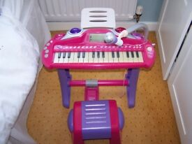 Early Learning Centre childs piano with stool