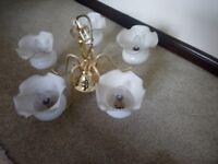 Chandelier light fitting brass