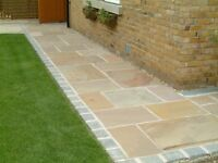 NEW 22MM PREMIUM GRADE INDIAN SANDSTONE PAVING - RAJ, FOSSIL, RIPPON, KOTA.