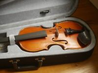 3/4 violin, with bow and case