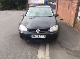 2007 Volkswagen Golf 1.6 FSI S 3dr low mileage, Air Conditioning,