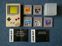 Original NINTENDO GAME BOY (spares/repairs) + 5 fully working games inc. Zelda & Tetris - Gameboy