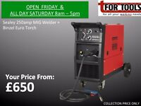 SEALEY Professional MIG Welder 250Amp 230V with Binzel® Euro Torch FROM £650