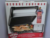 George Forman lean mean fat grilling machine.