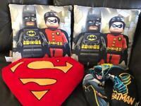 Batman / superman cushions