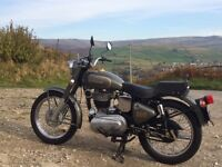 Royal Enfield 500 Bullet (Indian Enfield) 2003 low mileage solo motorcycle metalic grey