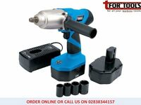 "Draper Expert 24V Cordless 1/2"" Sq. Dr. Impact Wrench + 2 Batteries"
