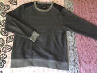 Mens Firetrap dark grey jumper size L
