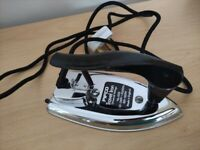 Vintage Pifco Travel Iron Stainless Steel with original travel case