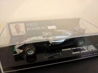Minichamps 1:43 Mercedes F1 W07 2016 Lewis Hamilton or Nico Rosberg, used for sale  Brackley, Northamptonshire