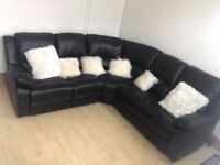 Reclining 5 Seat Corner Leather Sofa For Sale Nottingham