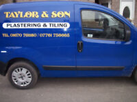 TAYLOR & SON plastering and tiling