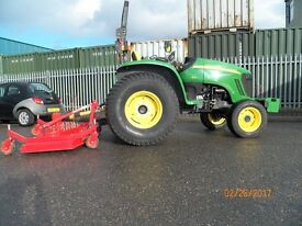 JOHN DEERE 4320 HEAVY DUTY COMPACT TRACTOR,1500 HOURS,48HP,INCLUDEST FINISHING MOWER,NO VAT,VGC