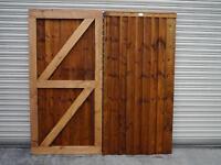 Heavy duty wooden garden gate 6'x3' feet
