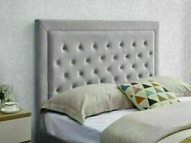 🔵💖🔴WE DEAL ONLY QUALITY ITEMS🔵💖🔴HEAVEN PLUSH VELVET DOUBLE & KING SIZE BED FRAME & MATTRESSES