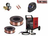 Sealey MIGHTYMIG210 Gas / no-gas Mig Welder 210A + 5KG Wire + Helmet