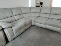 Large 5 seater corner unit and single chair