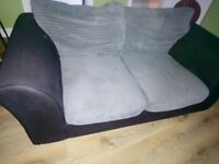 FREE 2 Seater fabric sofa reupholstery project free to a good home collection only