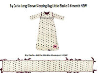 Matching baby sleeping bag and cot bumper NEW