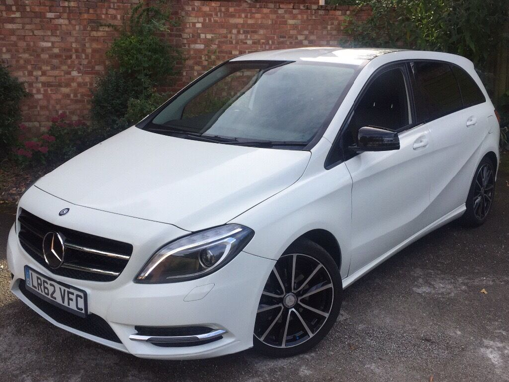 mercedes benz b class 62reg 37k b180 cdi amg spec blueefficiency sport shiny white mot 12 2016. Black Bedroom Furniture Sets. Home Design Ideas