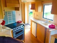 Family Starter Static CAravan For Sale At Sandylands On the West Coast Of Scotland On The Beach
