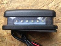 Land Rover Defender LED number plate light.