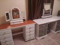 2 Dressing Tables. solid pine.