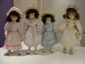 Dolls, 4 - collectors, porcelain with soft bodies