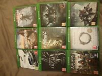 Xbox One games collection x9