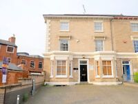 A self contained, first floor office is available on Princess Road West, Leicester City Centre
