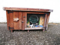 rabbit hutch, large and small NOW SOLD!!