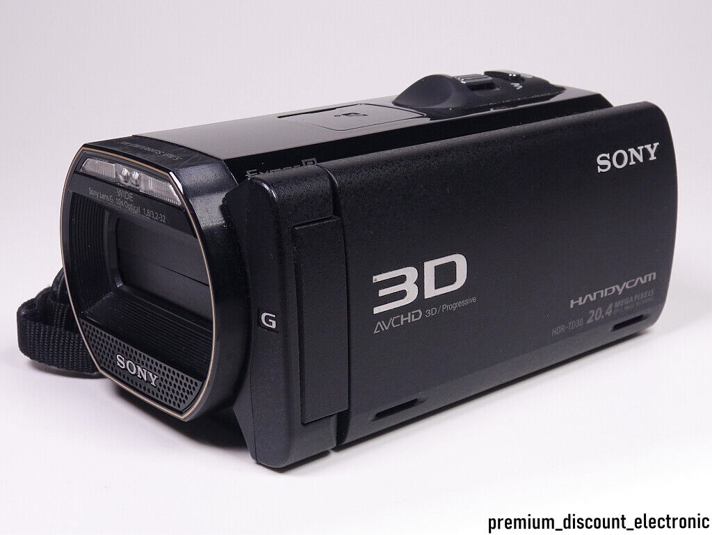 "Sony HDR-TD30VE 3D Camcorder TD30 VE Full HD Handycam 3,5"" LCD OVP + 64GB SDXC"