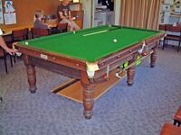 Original Riley 3/4 snooker table with cover.