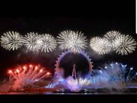 London eye fireworks tickets 4x