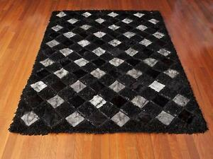 TAPIS NEUF PEAU DE VACHE CUIR NEW LEATHER AND COWHIDE RUG