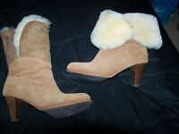 real UGE sheepskin ladies boots size 5 tan