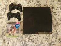 PS3 Charcoal Black w/ 2 Controllers + FIFA 16