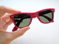 Genuine Rayban Wayfarer Sunglasses, Limited Edition Marbled Red. Quirky & Cool.