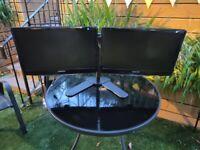 *SOLD*Samsung Full HD Dual Monitor Setup (2 x 22 Inch FHD Monitors) - Bargain!