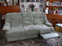 FREE - 3 SEAT SETTEE WITH ONE MANUAL RECLINER SECTION