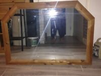 Mirror - Large over mantel wooden frame mirror