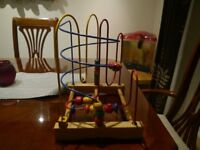Wooden Bead Maze / Colorful Abacus Circle for Boys & Girls