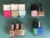 Range of nail varnish