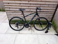"Carrera crossfire 2 mens hybrid bike Black 21"" frame"