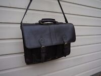 Brown Leather Briefcase by Hidesign