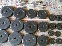 Dumbbells with selection of weights